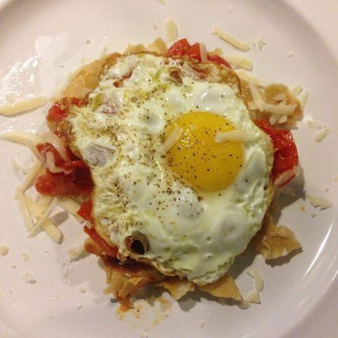 Carasau con uovo