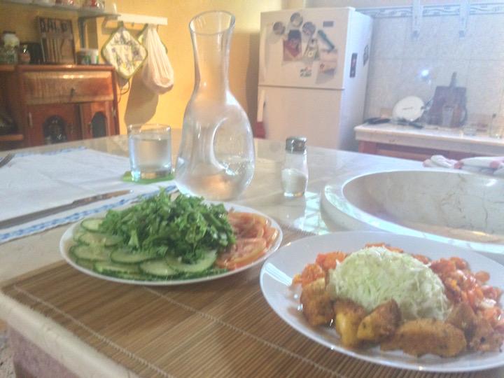 Malanga and salad santiago